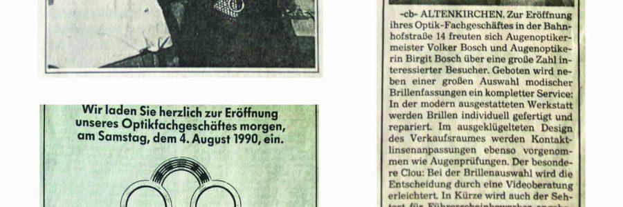 30 Jahre Optik Bosch  — Der Versuch einer Bestandsaufnahme —